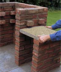 how to build a bbq pit out of brick